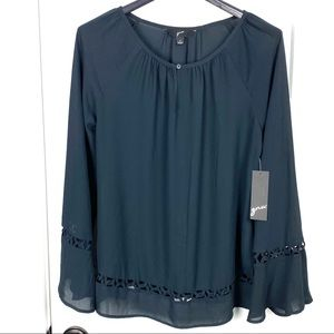 GNW NWT small long bell sleeve blouse